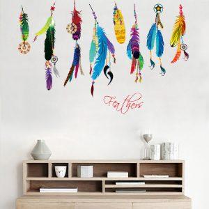 muursticker feathers