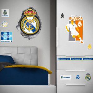 muursticker real Madrid logo