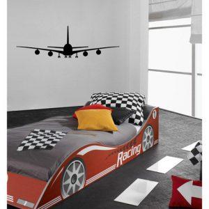 muursticker coat airplane