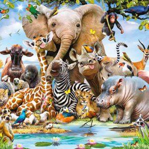 oosterbehang jungle safari