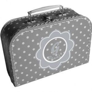 koffertje met bloem en naam