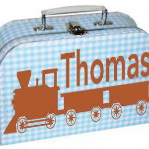 koffertje met trein en naam