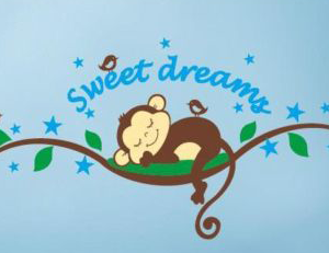 Muursticker sweet dreams aapje