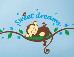 Muursticker sweet dreams aapje