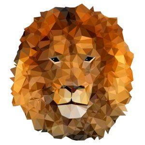 muursticker diamond leeuw