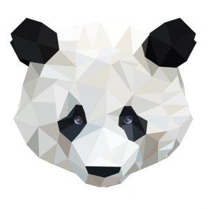muursticker diamond panda