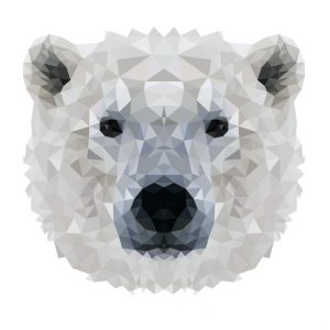 muursticker diamond ijsbeer