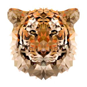 muursticker diamond tijger