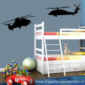 muursticker helikopters