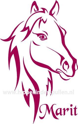 Muursticker Paard Met Naam.Muursticker Paard
