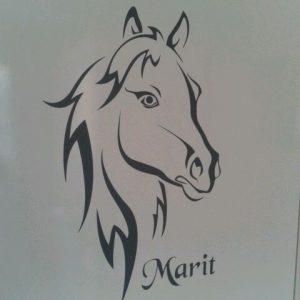 muursticker-paard