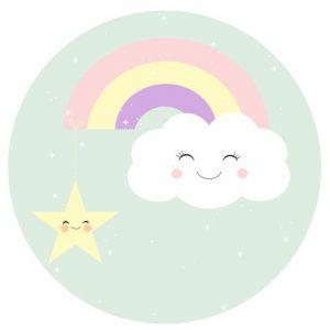 behangcirkel regenboog